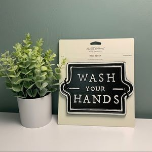 Rare • Wash Your Hands • Metal Sign Hearth & Hand